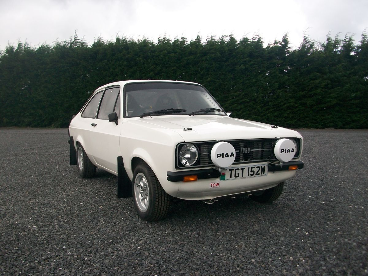 White Escort Mk2 Road Rally Car Carwyn Adams (Caws)